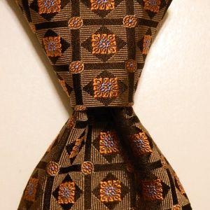 BANANA REPUBLIC Men's Silk Necktie ITALY Brown NEW